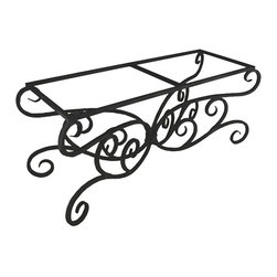 Mathews & Company - Alexander Rectangle Dining Table Base Only - This traditional Alexander Rectangle Dining Table Base Only allows you to use your own table top such as granite, custom wood, stone, or glass. Pictured in Black finish.