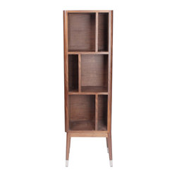 NyeKoncept - Niels Display Cabinet - This unique display cabinet will add a touch of moderns to any room through the asymmetrical shapes and the shelves position. It represents the perfect place for your decorative objects, without sacrificing its own style.