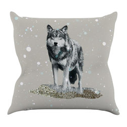 "Kess InHouse - Monika Strigel ""Wolf"" Throw Pillow (20"" x 20"") - Rest among the art you love. Transform your hang out room into a hip gallery, that's also comfortable. With this pillow you can create an environment that reflects your unique style. It's amazing what a throw pillow can do to complete a room. (Kess InHouse is not responsible for pillow fighting that may occur as the result of creative stimulation)."