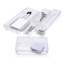 Linus Shallow Drawer Organizers - Drawer dividers are a must for keeping drawers free of clutter.