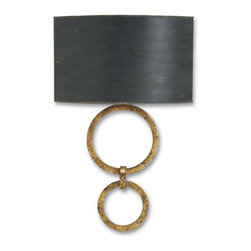 Currey & Company - Currey & Company Bolebrook Wall Sconce CC-5910 - Looking good but slimmed down for action, the newest collection of wall sconces from Currey & Company is designed to be compliant with Americans with Disabilities Act. The design team has created a wall sconce collection that reflects the unique Currey & Company point of view. Hand-applied finishes, natural materials and high quality fabrics are used to create a decorative, yet functional collection.