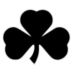 """Steel Clover Yard Stake Irish Luck - Approximate size 12"""" x 12"""""""