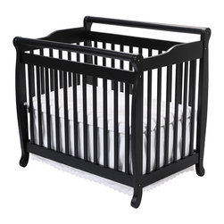 DaVinci - DaVinci Emily Mini Crib in Ebony - This ebony mini crib,with its smooth finish and convenient design,offers your baby a secure place to rest,learn,and grow. The best part is that this crib can grow right along with your child,as it is easily converted into a twin bed,as needed.