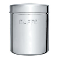 Alessi - Alessi Kitchen Container - Looking for pretty kitchen canisters in which to hold coffee, salt and sugar? These stainless steel containers hold your essential ingredients and are also easy on the eyes.