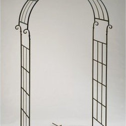 Deer Park Ironworks Candy Cane Arch - Create a charming accent to a walkway or a wonderful frame for a garden bench with the Deer Park Ironworks Candy Cane Arch. This decorative garden arch, made of durable, heavy-gauge metal, comes with ground spikes that make it easy to install. It's also protected with a baked-on, powder-coated finish, making the natural patina appearance an ideal complement to your outdoor decor.About Deer Park Ironworks Deer Park Ironworks has a reputation as a premier wrought iron lawn and garden company. They create timeless designs with quality materials and price them at competitive rates. All of their products are made from heavy gauge steel and have a durable powder-coated finish, which are Earth-friendly since they emit zero, or near zero, volatile organic compounds. Deer Park's powder-coating finishes also produce a much thicker coating than conventional liquid coatings that sometimes run or sag. Furthermore, Deer Park's products feature a unique natural patina appearance that complements any decor or color scheme. And their decorative baskets, wall planters, and window boxes come with a fitted coco liner that is a natural product that helps with proper drainage and provides a healthy environment for your plants to grow.