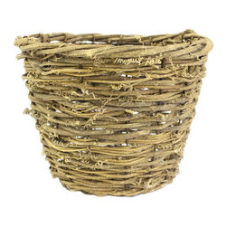 """McCann Brothers Medium Vine Basket Planter - McCann Brothers Medium Vine Basket Planter. Woven basket planter that fits a 6.5"""" plastic pot. Pefect for dressing up your favorite plants and flowers creating gift baskets for small storage and more. Top diameter: 7.75"""" Bottom diameter: 5.5"""" Height: 6"""""""