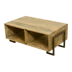 Industrial Rustic Solid Wood & Iron Low Height TV Stand Media Console ...