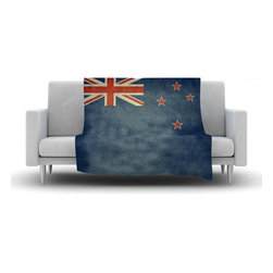 """Kess InHouse - Bruce Stanfield """"Flag of New Zealand"""" Blue Fleece Blanket (30"""" x 40"""") - Now you can be warm AND cool, which isn't possible with a snuggie. This completely custom and one-of-a-kind Kess InHouse Fleece Throw Blanket is the perfect accent to your couch! This fleece will add so much flare draped on your sofa or draped on you. Also this fleece actually loves being washed, as it's machine washable with no image fading."""