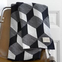 ferm LIVING - Squares Knit Throw Blanket - Squares Knit Kids Throw Blanket
