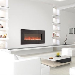 "Napoleon 48 Linear Wall Mount Electric Fireplace - Dimensions: 48"" W x 22"" H x 6.5""D"