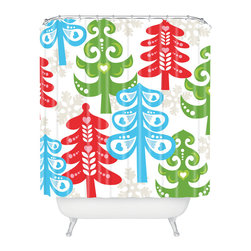 DENY Designs - DENY Designs Zoe Wodarz Forest Tales Shower Curtain - Who says bathrooms can't be fun? To get the most bang for your buck, start with an artistic, inventive shower curtain. We've got endless options that will really make your bathroom pop. Heck, your guests may start spending a little extra time in there because of it!
