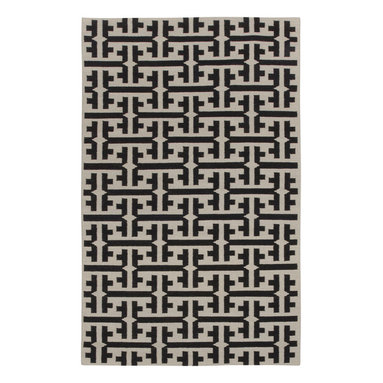 """The Greek rug in Kettle - """"Classic and timeless, I wanted to take the Greek key beyond a border into an all over pattern. The color palette takes the ancient into today and style plays nicely with The Greek."""" - Genevieve Gorder"""