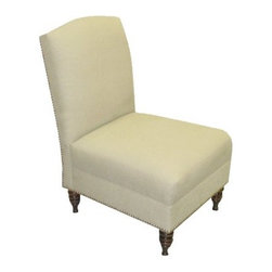 Pelham Nail Button Linen Chair, Natural - If neutral is more your speed, this is less of a commitment and would be gorgeous with a fun pop of color via your favorite pillow. This would look classic in a living room or bedroom.