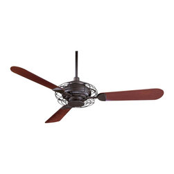 Minka Aire - Minka Aire F601-ORB Acero Ceiling Fan - Modern Contempo Ceiling Fan in Oil Rubbed Bronze with Opal Frosted glass from the Acero Collection by Minka Aire.