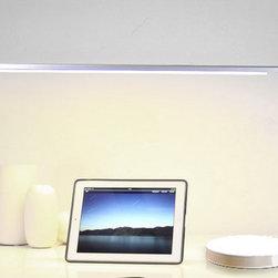 Modern Aluminium and Pamma Shade LED Table Lamp -
