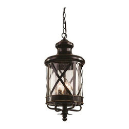 Trans Globe Lighting - Trans Globe Lighting 5124 ROB Outdoor Hanging Light In Rubbed Oil Bronze - Part Number: 5124 ROB