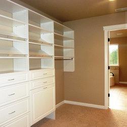 Freestone - Master closet unit at Freestone homes.