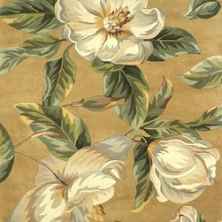 Kas - Country & Floral Catalina 5'x8' Rectangle Gold Area Rug - The Catalina area rug Collection offers an affordable assortment of Country & Floral stylings. Catalina features a blend of natural Light Blue color. Hand Tufted of 100% Wool the Catalina Collection is an intriguing compliment to any decor.