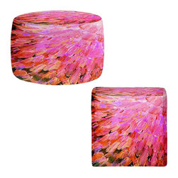 Dianoche Designs Ottoman Foot Stool Sea Scales In Pink
