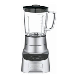 Cuisinart CBT-700 PowerEdge Blender - Serve up some nutritious delicious smoothies and soups with the Cuisinart CBT-700 PowerEdge Blender. With pre-programmed smoothie and ice crush functions this 700-watt power motor blender features a Power6 Turbo-Edge blade design and built-in Count-Up Timer to crush ice puree and mix to perfection. Crafted in easy-wipe die-cast metal the blender includes a 56 oz. glass easy-pour jar that's dishwasher safe.Limited 3-year warrantyDimensions: 9.06L x 6.9W x 15.75H inchesAbout CuisinartOne of the most recognized names in cookware and kitchen products Cuisinart first became popular when introduced to the public by culinary experts Julia Child and James Beard. In 1973 the Cuisinart food processor revolutionized the way we create fine food and healthy dishes and since that time Cuisinart has continued its path of innovation. Under management by the Conair Corporation since 1989 Cuisinart is a universally celebrated name in kitchens across the globe. With a full-service product line including bakeware blenders coffeemakers cookware countertop appliances kitchen tools and much much more Cuisinart products are preferred by chefs and loved by consumers for durability ease of use superior quality and style.