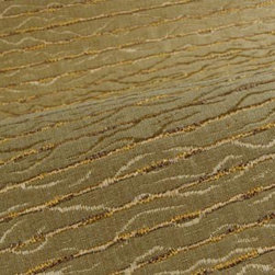 Frida Upholstery in Taupe - Frida Durable Designer Upholstery Fabric in Taupe & Gold Stripes. Delicate antique look ideal for upholstering sofas, chairs, and benches, or pillows.