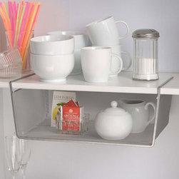 Silver Mesh Under Shelf Storage Basket - Large -
