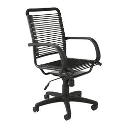 Eurostyle - Bungie High Back Office Chair-Black/Graphite Black - Extra strong bungie cord loops