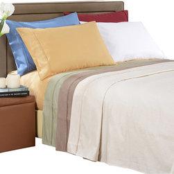 Bed Linens - Egyptian Cotton 1000 Thread Count Stripe Sheet Sets Cal-King Medium Blue - 1000 Thread Count Stripe Sheet Sets