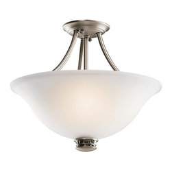 BUILDER - BUILDER 42070AP Durham Transitional Semi-Flush Mount Ceiling Light - Less is more with this 2 light semi-flush ceiling light from the Durham(TM) Collection. Its understated shapes and soft, clean lines create a relaxing, calming environment. With a metallic Antique Pewter Finish and simple Satin-Etched Glass, you can be assured of a streamlined, timeless design that makes an impressive statement without being pretentious.