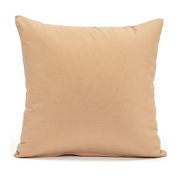 """Blooming Home Decor - Solid Beige Accent / Throw Pillow Cover - (Available in 16""""x16"""", 20""""x20"""")"""
