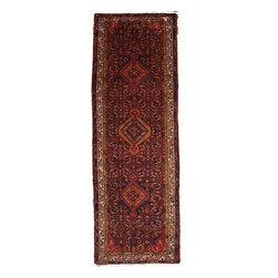 eSaleRugs - 3' 5 x 10' 2 Hamedan Persian Runner Rug - SKU: 110886804 - Hand Knotted Hamedan rug. Made of 100% Wool. 30-35 Years.
