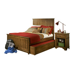 Legacy Classic Kids - Legacy Classic Kids Timber Lodge Twin Panel Bed with Trundle/Storage Unit - Legacy Classic Kids Timber Lodge Twin Panel Bed with Trundle/Storage Unit 2961-8510K