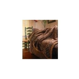 Leopard Faux Fur Throw Blanket - Cold weather is coming, I promise you. This is a faux fur leopard print throw that is actually blanket size. It's by Posh Pelts. Back to the cave!