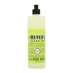 Mrs. Meyers - Mrs. Meyers Clean Day Biodegradable Liquid Dish Soap, Lemon - Mrs. Meyer's Clean Day Dish Soap is rich, thick and makes grease disappear like nobody's business. This concentrated formula for hand washing dishes includes Soap Bark Extract, another ingredient from the garden that is one of nature's best degreasers. Rinses clean. All you need is a squirt or two and you're on your way.