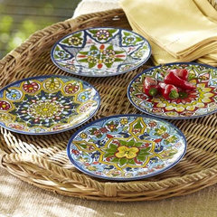 eclectic dinnerware by Pottery Barn