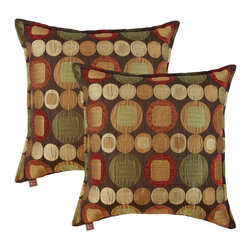 Sherry Kline - Sherry Kline Metro Spice 20-inch Decorative Throw Pillows (Set of 2) - Update your decor with this beautiful set of Sherry Kline pillows. These throw pillows are great accessories for any sofa or bedroom.