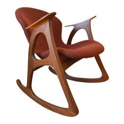 Vladimir Kagan Teak Rocking Chair -