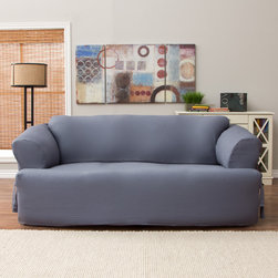 Tailor Fit - Tailor Fit Relaxed Fit Cotton Duck T-cushion Sofa Slipcover - Update and protect your furniture with the Tailor Fit Loose Fit Slipcover. This machine washable,easy fit canvas slipcover is a worry free affordable way to enhance your home with a sleek clean contemporary style.