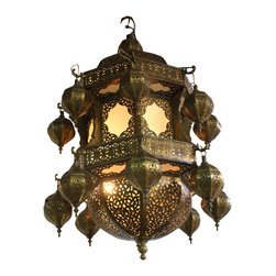 Badia Design Inc. - Moroccan Style Chandelier with White Glass - Large Moroccan Chandelier with White Glass – One of a Kind Chandelier