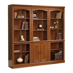 Sauder - Sauder Camden County Library Wall Bookcase in Planked Cherry - Sauder - Bookcases - 1017951017923PKG