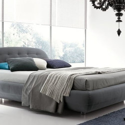 Rossetto Furniture - Eclipse Grey King Size Platform Bed - T286612375T97 - Eclipse Collection King Size Bed