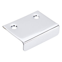 """Top Knobs - Tab Pull 2"""" - Polished Chrome - Length - 1 1/2"""",Width - 2"""",Center to Center - 1 1/4"""","""