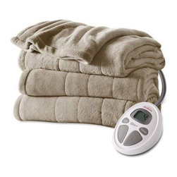 Jarden Home Environment - S Mcroplsh Htd Blnkt Mushrm K - Sunbeam Solid Microplush Heated Blanket/King (Mushroom)  This item cannot be shipped to APO/FPO addresses. Please accept our apologies.