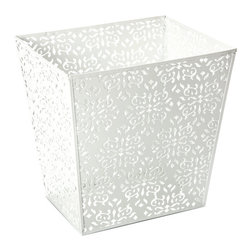 Brocade Waste Basket - Who says waste baskets have to be boring? Add style to your unwanted papers with this brocade basket!
