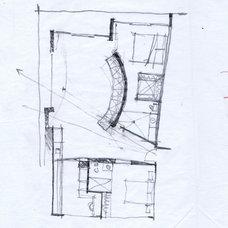Contemporary  Mark English Sketch for Fontana Apartment Plan