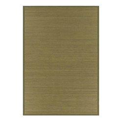 None - Wood-tone Bamboo Rug (5' x 8') - Update your home decor with this casual style rug Floor rug is hand-woven from bamboo Area rug features wood- and earth-tone colors