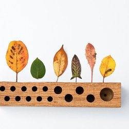 Natural Wood Pen Pencil Holder Desk Organizer JACOB by Less & More - The elegantly minimal Jacob Pen and Pencil Holder brings the warmth of natural oak to your office while keeping your work area organized. It could also be used to display pretty nature finds, like colorful leaves and foliage from autumn walks.