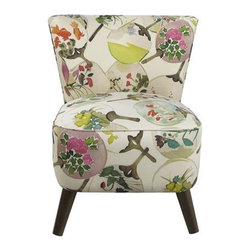 Garden Party Chair - It doesn't get much prettier than this floral mid-century chair. Pair it with wood-accented furniture for a full vintage look.