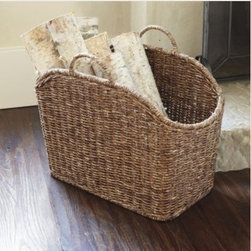 Catch All Basket - This lovely basket will add natural fibers, texture and a great storage spot for your books and magazines, knitting, logs or laundry.