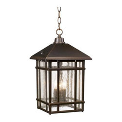 J du J Sierra Craftsman Outdoor Hanging Light - An outdoor lantern fueled by candlelight is a good choice for lighting your patio.